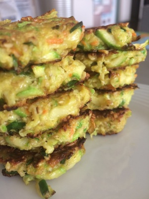 Zucchini and oat patties