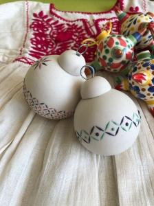 Sirvin ceramic ornaments Azul Cobalto