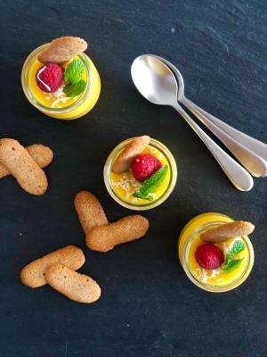 Recette de pudding de mangue de Cook with Lu