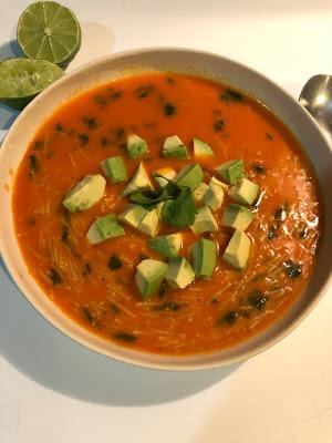 Soupe de pâte mexicaine