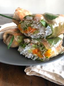 Recette des rouleaux de printemps végétariens de Nourish by Lu